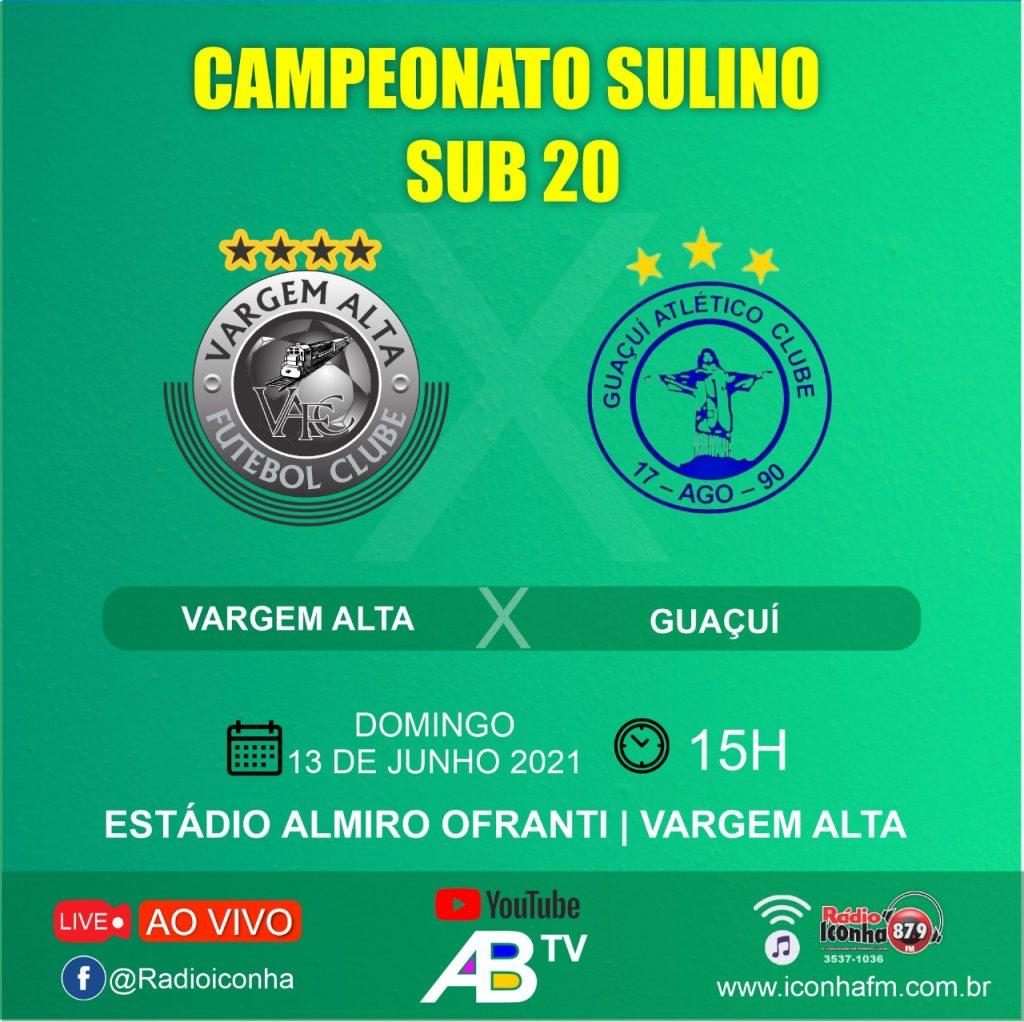WhatsApp Image 2021 06 12 at 20.39.32 1024x1022 - Com transmissão ao vivo Vargem Alta estréia contra o Guaçuí no sub 20 Sulino