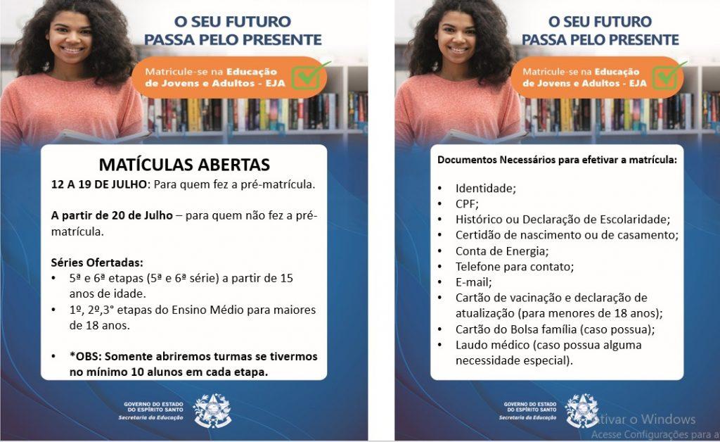 EJA 1024x628 - EEEFM Coronel Antonio Duarte - Educação de Jovens e Adultos (EJA) - Iconha/ES