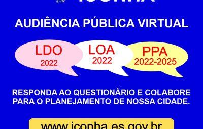 WhatsApp Image 2021 07 17 at 13.10.56 400x255 - Prefeitura começa a receber propostas e reivindicações da população para elaborar LDO, LOA 2022 e PPA 2022-2025