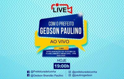 prefeitura live site 400x255 - Prefeito de Iconha promove live nesta sexta para apresentar o processo de planejamento da cidade – PPA 2022-2025
