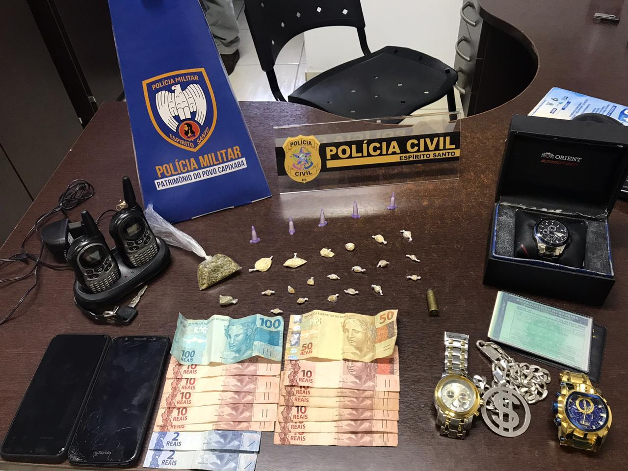 POLICIA MILITAR PRENDE SUSPEITO DE HOMICÍDIO EM ANCHIETA
