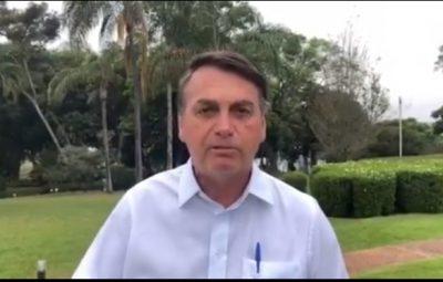 """Bolsonaro 400x255 - Bolsonaro defende reabertura do comércio """"com responsabilidade"""""""