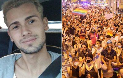 untitled 1 400x255 - Espanhóis protestam contra assassinato de jovem nascido no Brasil