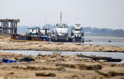 Baixa historica em nivel de rio atrasa comercio exterior do Paraguai 400x255 - Baixa histórica em nível de rio atrasa comércio exterior do Paraguai